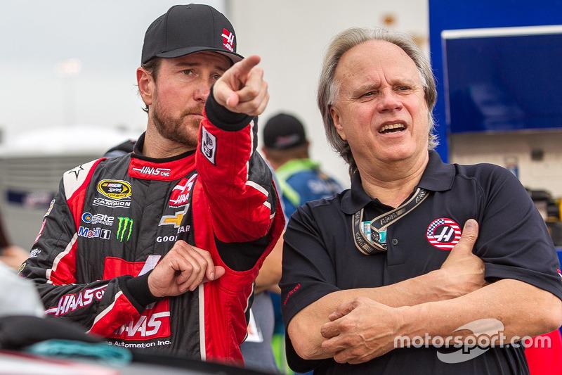 Kurt Busch, Stewart-Haas Racing Chevrolet with Gene Haas
