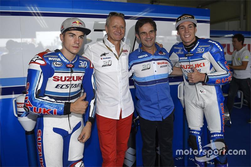 Maverick Viñales, dan Kevin Schwantz, dan Davide Brivio, dan Aleix Espargaro, Team Suzuki MotoGP