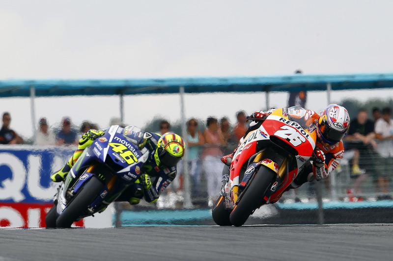 Dani Pedrosa, Repsol Honda Team dan Valentino Rossi, Yamaha Factory Racing