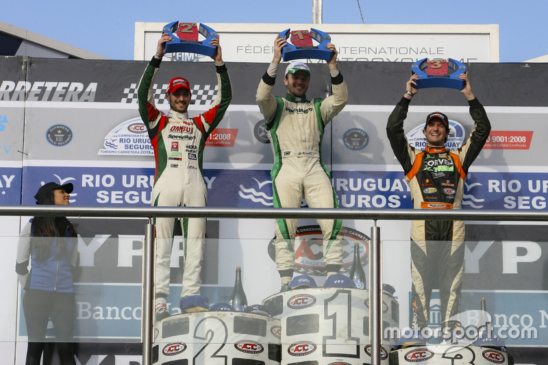 Podium Agustin Canapino, Jet Racing Chevrolet and Facundo Ardusso, Trotta Competicion Dodge and Juan