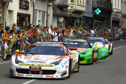 Cars arrive at Spa