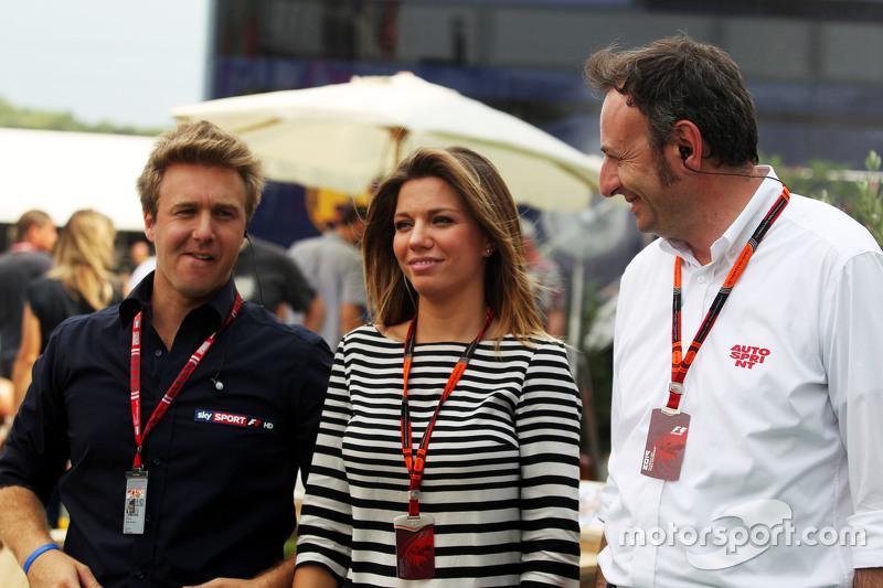 Federica Masolin, Sky F1 Italia Presenter, with Davide Valsecchi, Sky F1 Italia Presenter,