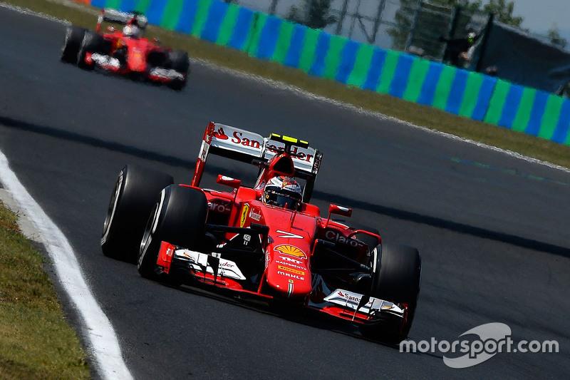 Kimi Raikkonen, dan Sebastian Vettel, Ferrari SF15-T