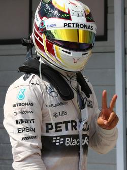 Pole position for Lewis Hamilton, Mercedes AMG F1