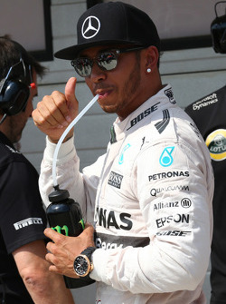 Pole voor Lewis Hamilton, Mercedes AMG F1