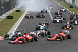 El inicio de la carrera, Sebastian Vettel, Scuderia Ferrari