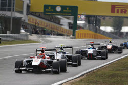 Esteban Ocon, ART Grand Prix leads Jimmy Eriksson, Koiranen GP