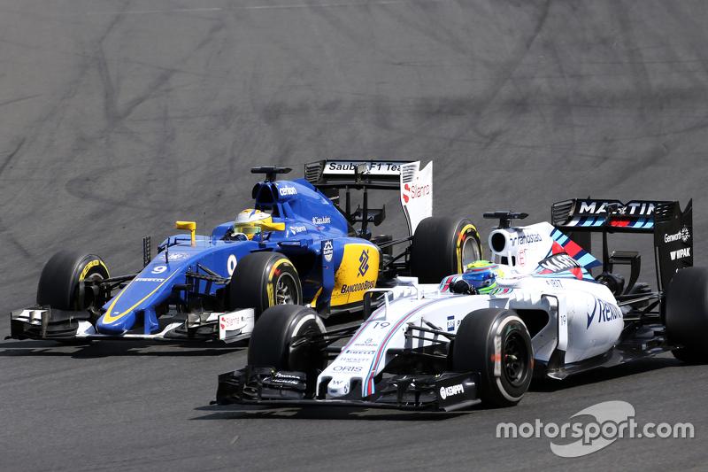 Маркус Ерікссон, Sauber F1 Team та Феліпе Масса, Williams F1 Team