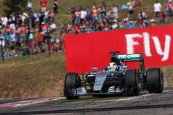 Lewis Hamilton, Mercedes AMG F1 W06 runs wide