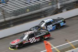 Kevin Harvick, JR Motorsports Chevrolet y J.J. Yeley