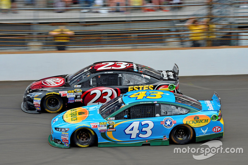 J.J. Yeley, BK Racing Toyota andAric Almirola, Richard Petty Motorsports Ford