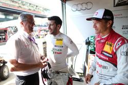 Ernst Moser, Mike Rockenfeller, Timo Scheider, Audi Sport Team Phoenix Audi RS 5 DTM