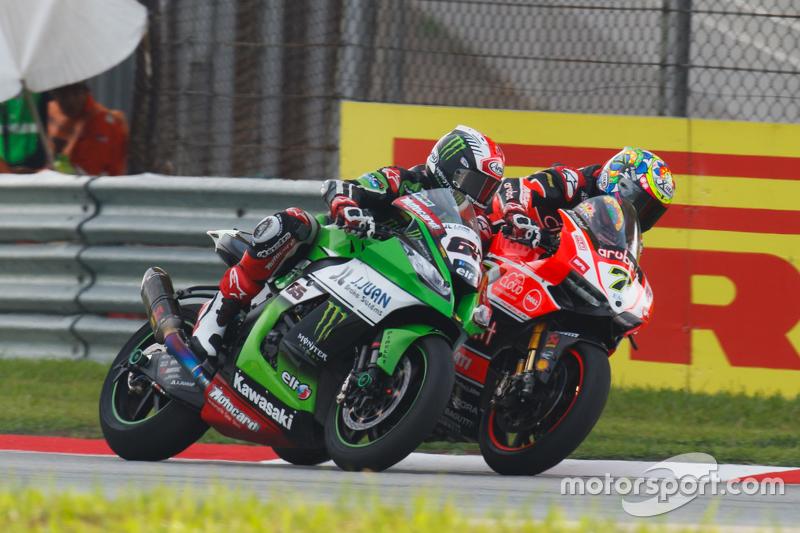 Jonathan Rea, Kawasaki; Chaz Davies, Ducati Team