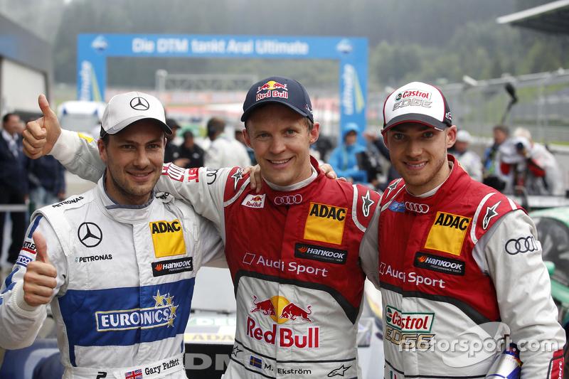 Race winner: Mattias Ekström, Audi Sport Team Abt Sportsline, Audi A5 DTM, second place Gary Paffett