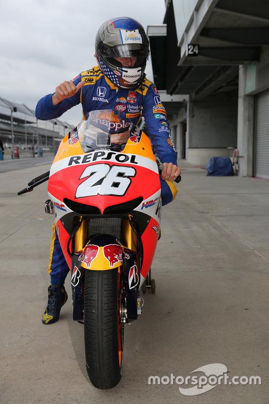 Marco Andretti, Andretti Autosport Honda on Dani Pedrosa's bike