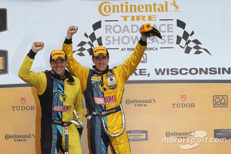 Podium: race winners Matt Plumb, Hugh Plumb
