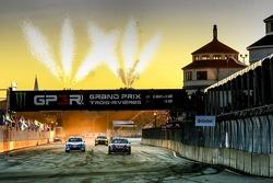 Победитель Дави Жанне, Peugeot, второй - Томас Хейккинен, VW, третий - Таннер Фауст, VW