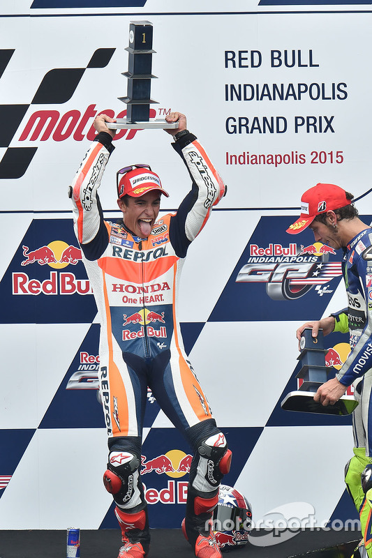 Podium: winnaar Marc Marquez, Repsol Honda Team