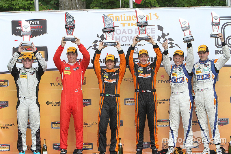 PC podium: winners #11 RSR Racing Oreca FLM09 Chevrolet: Chris Cumming, Bruno Junqueira, peringkat kedua #38 Performance Tech Motorsports Oreca FLM09: James French, Conor Daly, peringkat ketiga #54 CORE autosport Oreca FLM09: Jon Bennett, Colin Braun