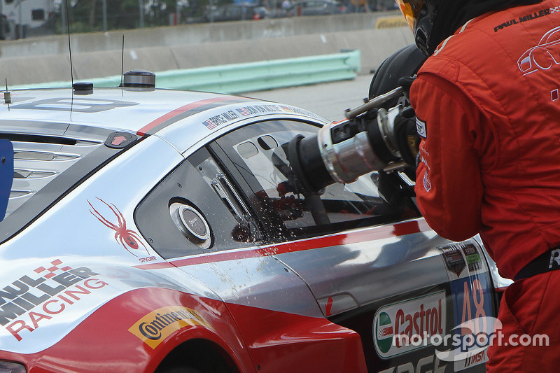 #48 Paul Miller Racing Audi R8 LMS: Christopher Haase, Dion von Moltke refueled