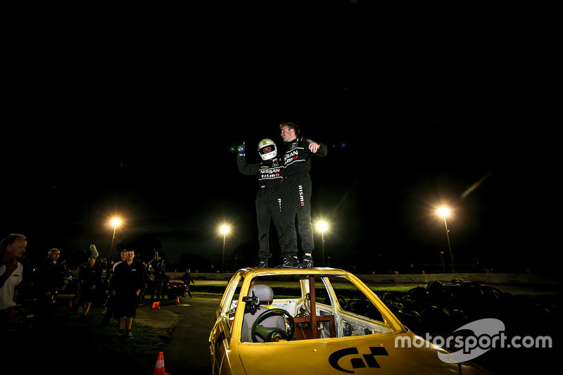 Elliott Schutte and Matthew Simmons win the Stock Car race