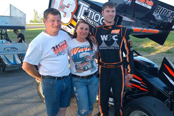 Kevin Ward Sr. with wife Pamela and son Kevin Ward Jr.