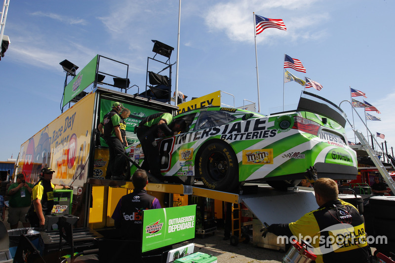 The Backup Car Of Kyle Busch Joe Gibbs Racing Toyota Is Pulled From