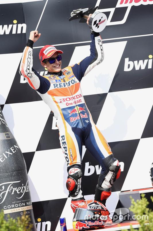 Podium: tweede Marc Marquez, Repsol Honda Team