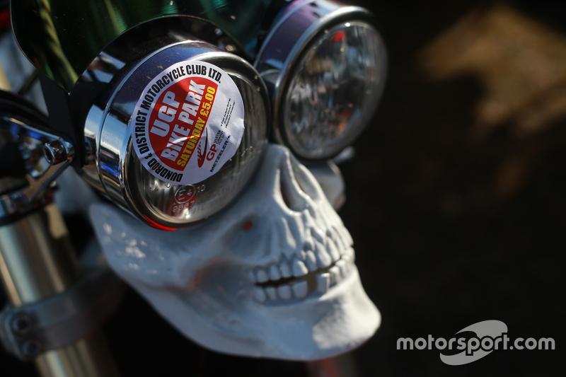 Motorcycle parking sticker