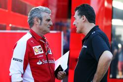 (Kiri ke Kanan): Maurizio Arrivabene, Ferrari Team Principal dengan Federico Gastaldi, Lotus F1 Team Deputy Team Principal