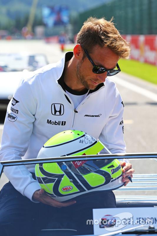 Jenson Button, McLaren op de parade