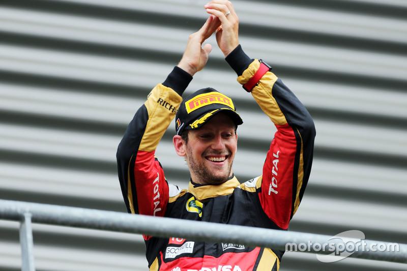 Peringkat ketiga Romain Grosjean, Lotus F1 Team