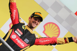 Third place Romain Grosjean, Lotus F1 Team