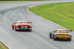 #76 Compass 360 Racing Audi R8 LMS: Ray Mason, Pierre Kleinubing and #97 Turner Motorsport BMW Z4: Michael Marsal, Dane Cameron