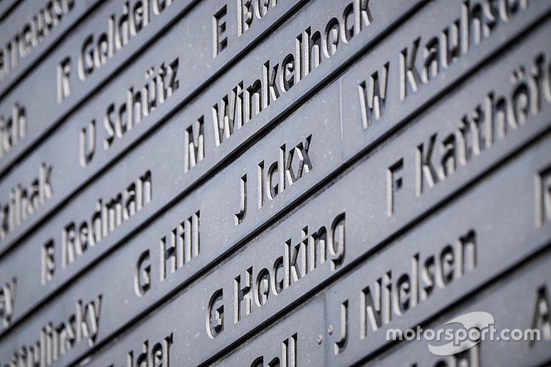 Wall of Nürburgring legends
