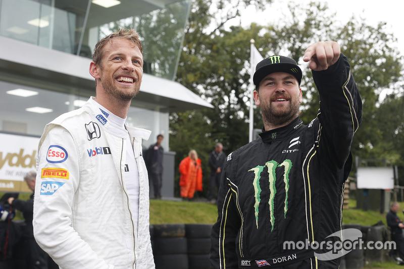 Jenson Button and Liam Doran