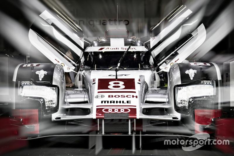 #8 Audi Sport Team Joest Audi R18 e-tron quattro: Lucas di Grassi, Loic Duval, Oliver Jarvis