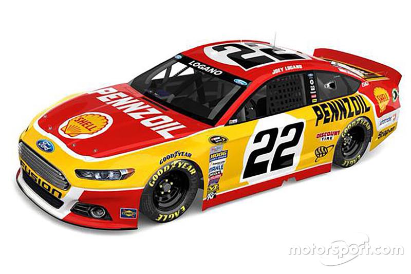 Throwback paint scheme for Joey Logano, Team Penske Ford
