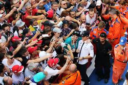 Nico Rosberg, Mercedes AMG F1 met de fans