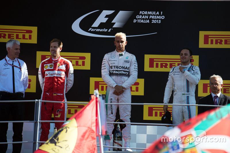 2015: 1. Lewis Hamilton, 2. Sebastian Vettel, 3. Felipe Massa