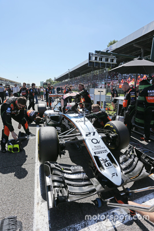 Ніко Хюлкенберг, Sahara Force India F1 VJM08 на стартовій решітці