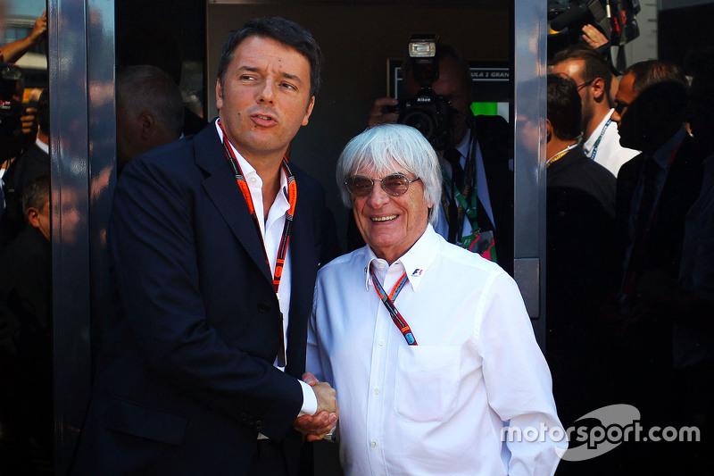 Matteo Renzi, İtalya Başbakanı ile Bernie Ecclestone
