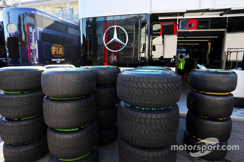 Pirelli tyres for Mercedes AMG F2