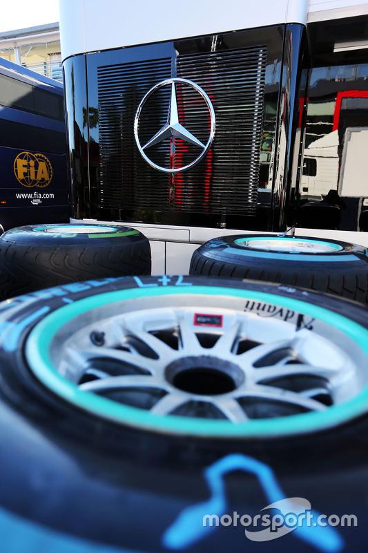Pirelli tyres for Mercedes AMG F2