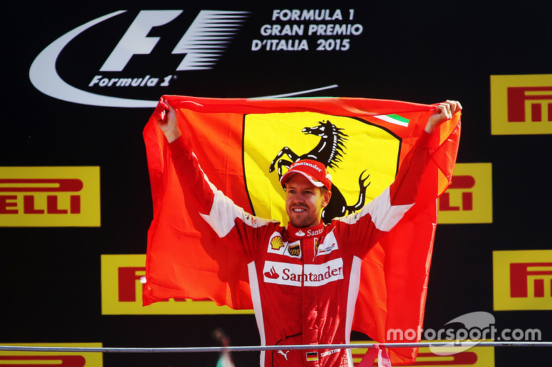 Podium: second place Sebastian Vettel, Ferrari