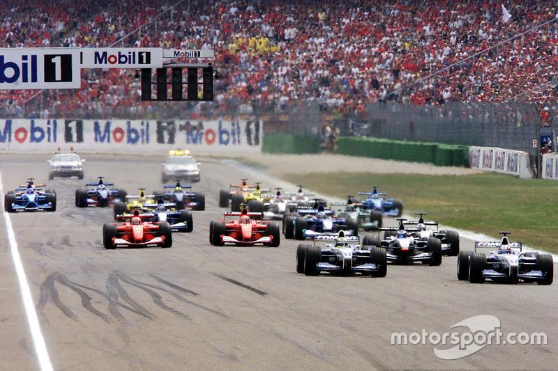 Départ : Juan Pablo Montoya devance Ralf Schumacher