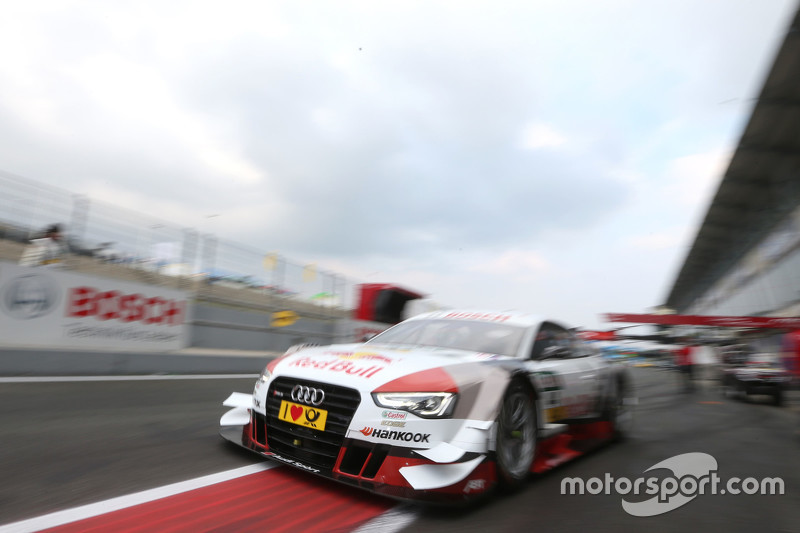 Hans-Joachim Stuck in the Audi RS 5 DTM race taxi