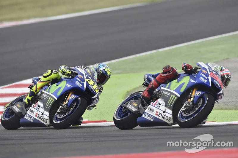 Jorge Lorenzo und Valentino Rossi, Yamaha Factory Racing
