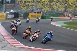 Maverick Viñales, Team Suzuki MotoGP e Jack Miller, Team LCR Honda e Loris Baz, Forward Racing Yamaha