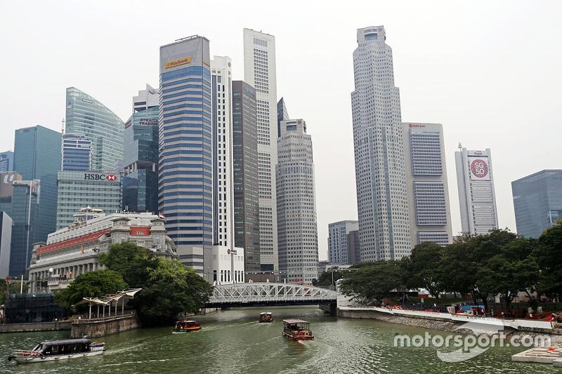 Die Kulisse in Singapur